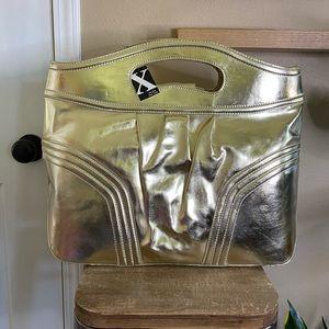 NWT Maxx New York Gold Metallic Tote Bag